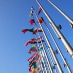 Flags of European states — Stock Photo