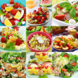 Healthy food collage - Stock Photo
