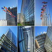 European parliament collage — Stock Photo