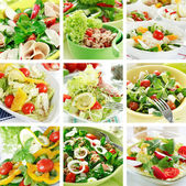 Collage de alimentos saludables — Foto de Stock
