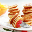 Sweet mini pancakes — Stock Photo