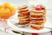 Sweet mini pancakes — Stock Photo