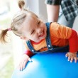Lot of fun with the gymnastic ball — Stock Photo #2326481