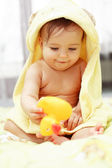 Cute baby after bath — Stock Photo