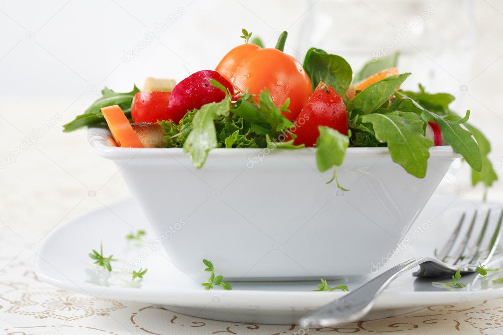 Delicious diet salad with lot of vitamins — Stock Photo #2321838