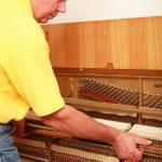 Piano tuner — Stock Photo