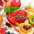 Winter fruit tea with fresh fruits - Foto Stock