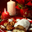 Christmas cake and cookies — Stock Photo #2334812