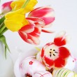 Tulips in vase — Stock Photo