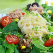 Green salad with tunny — Stock Photo