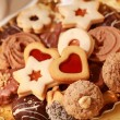 Delicious Christmas cookies — Stockfoto