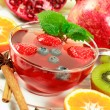 Stock Photo: Winter fruit tewith fresh fruits