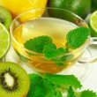 Green tea with fresh mint - Foto de Stock