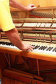 Piano tuner — Stock Photo