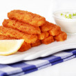 Mozzarella fried sticks — Stock Photo