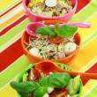 Different salads in buffet - Stock Photo