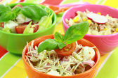 Different salads in buffet — Stock Photo