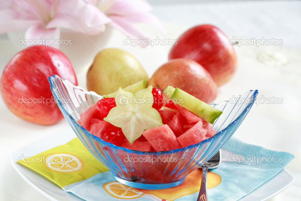 Light fruit dessert for hot summer with low calorie  Stock Photo #2480413