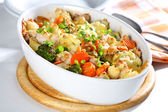 Baked mixed vegetable — Stock Photo