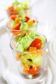 Three small salads — Stock Photo