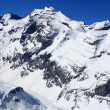 Swiss mountains in Winter - Stock Photo