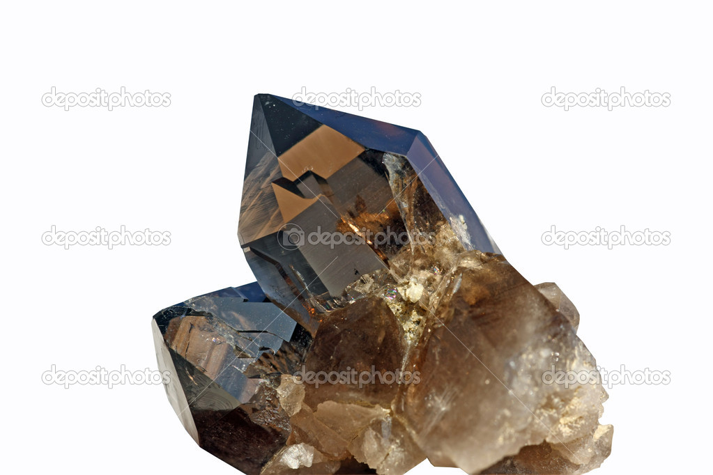 Detail view of a brown crystal found in the swiss alps — Stock Photo #2184736