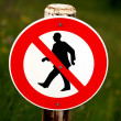 Prohibition Sign — Stock Photo
