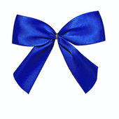 Blue Bow Isolated on White — Stock Photo