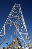 High tension pole — Stock Photo