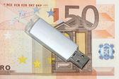 Femtio eurosedeln — Stockfoto