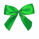 Green Bow Isolated on White — Stock Photo