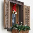 Window with christmas decoration — Stock Photo #2465701