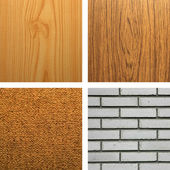 Backgrounds of Wood, Carpet and Wall — Stock Photo