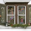 Stock Photo: Window with christmas decoration