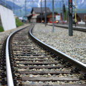 Railroad track — Stockfoto