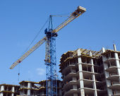 Residential building under construction — Stock Photo