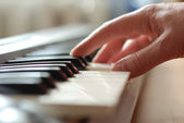 Piano hand — Stock Photo
