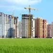 Housing estate under construction - Stock Photo