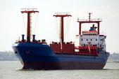 Cargo ship moving — Stock Photo