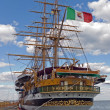 Legendary Italian Navy sailing ship - Stock Photo