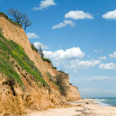 Scenic abrupt coast — Stock Photo