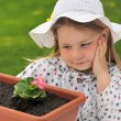 Little girl - gardening — Stock Photo #2262911