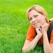 Young woman relaxing on the grass — Stock Photo #2262977