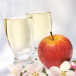 Stock Photo: Cider and apple - still-life