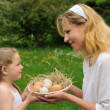 Mother and daughter having Easter time — Stock Photo #2269258