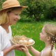 Mother and daughter having Easter time — Stock Photo #2269660