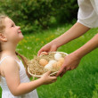 Mother and daughter having Easter time — Stock Photo #2269781