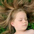 Stock Photo: Little girl sunbathing