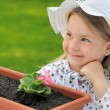 Little girl - gardening — Stock Photo