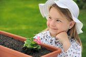 Little girl - gardening — Stock Photo